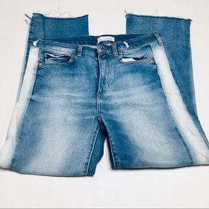 The Loft Vintage Straight raw hem jeans